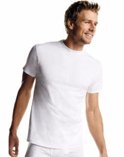 Hanes 2135P6 - Men's White TAGLESS® Crewneck Undershirt ...