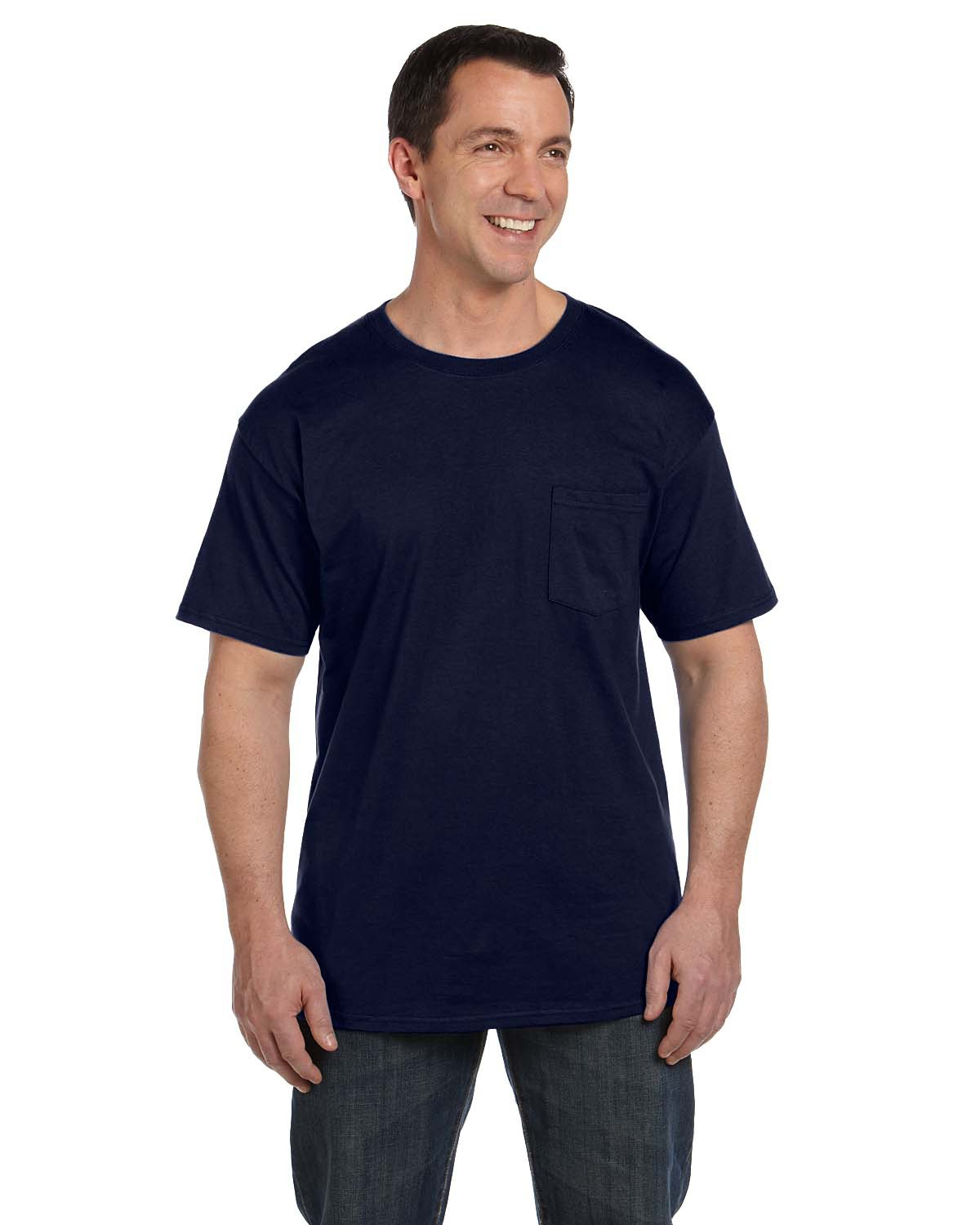 Hanes 5190P  Beefy-T with a pocket