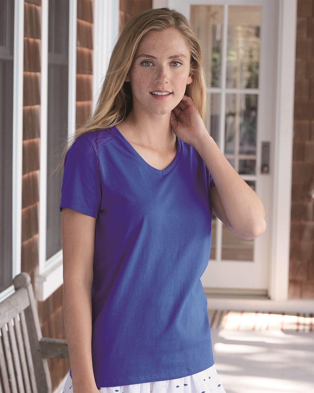 Hanes 5780 - Women's Tagless V-Neck T-Shirt