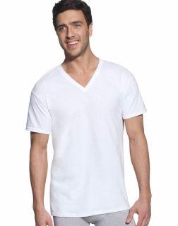 Hanes 7880W6 - Classic Mens White V-Neck T-Shirt P6