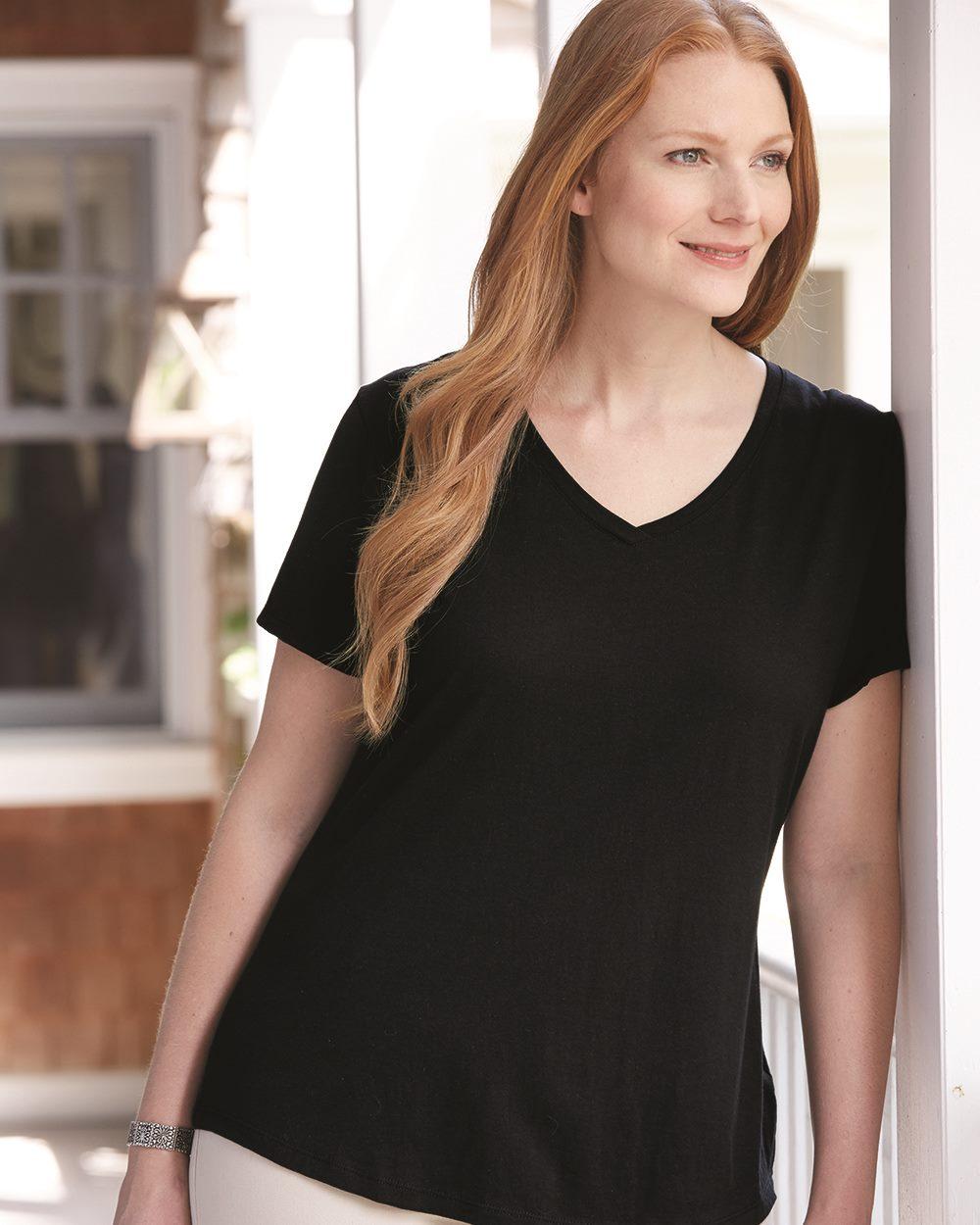 Hanes JMS30 - Just My Size Women's Short Sleeve V-Neck ...