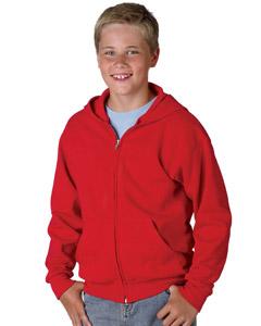 Hanes P480  Youth 7.8 oz., 50/50 ComfortBlend Full-Zip ...