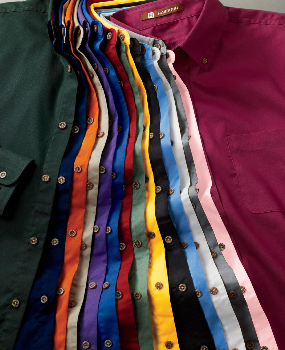 Harriton M500  Men's Twill Shirt with Stain Release