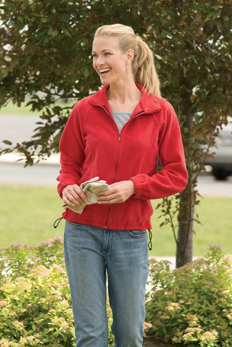 Harriton M990W  Women's Full-Zip Fleece