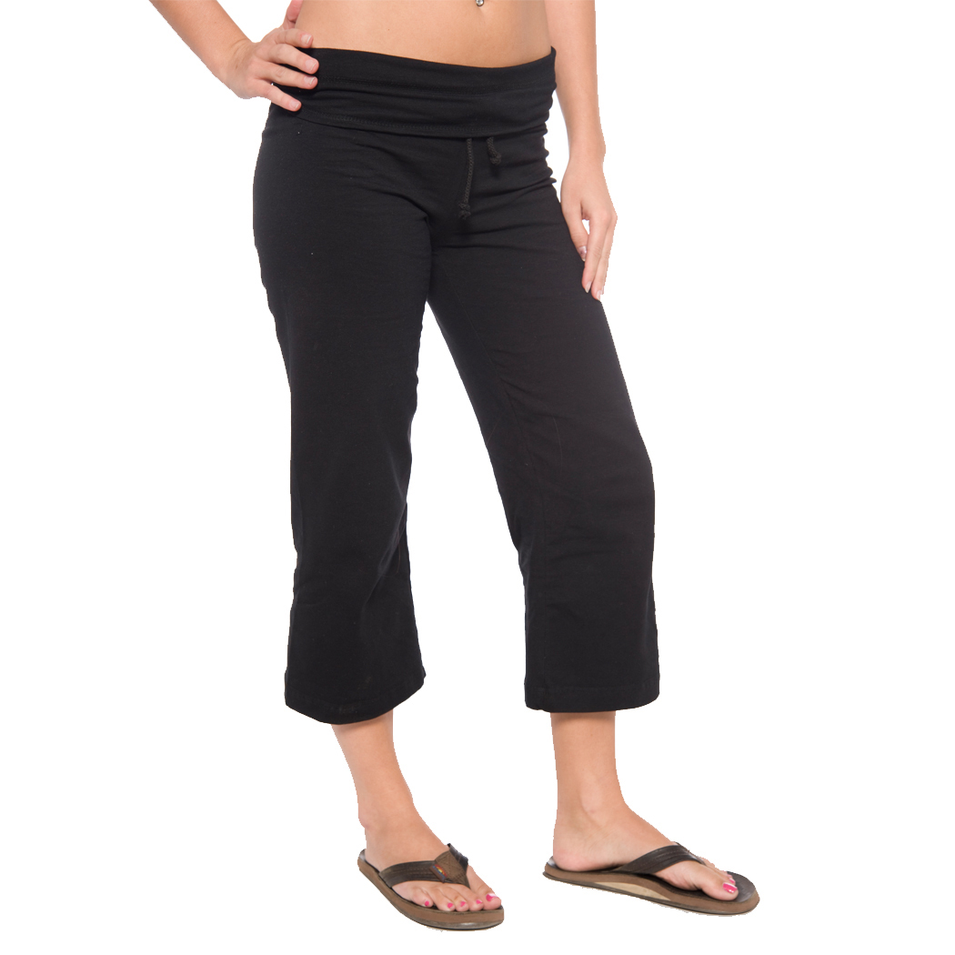 In Your Face A23 - Ladies' Draw String Waist Capri Yoga Pant