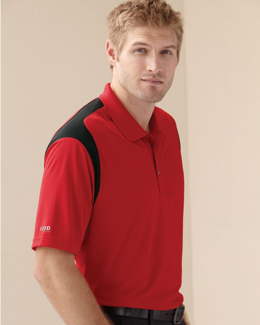 IZOD 13Z0095 Performance Sport Shirt with Contrast Color Inserts