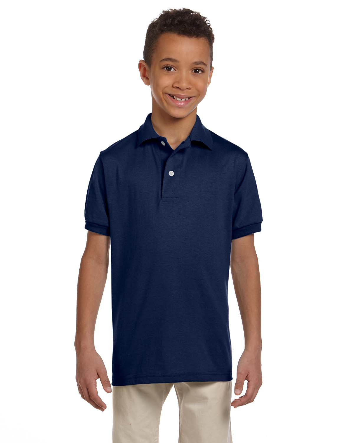Jerzees 437Y  Youth 5.6 oz., 50/50 Jersey Polo with ...