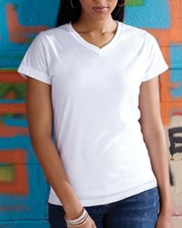 LAT Drop Ship - 1507 Ladies' Polyester V-Neck T-Shirt