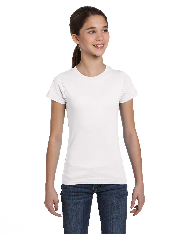 L.A.T Sportswear 2616 Girls' Longer Length T-Shirt
