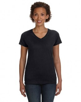 LAT 3507 - Ladies' V-Neck Fine Jersey T-Shirt