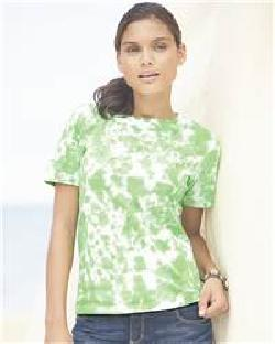 L.A.T Sportswear 3599 Ladies' Short Sleeve Tye-Dye T-Shirt