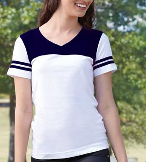 LAT Drop Ship - 3637 Junior Football Longer Length T-Shirt