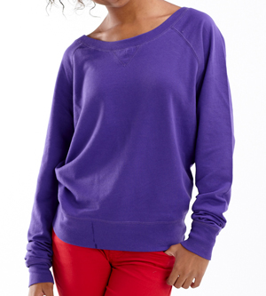 LAT Drop Ship - 3752 Junior Lightweight French Terry Slouchy Pullover
