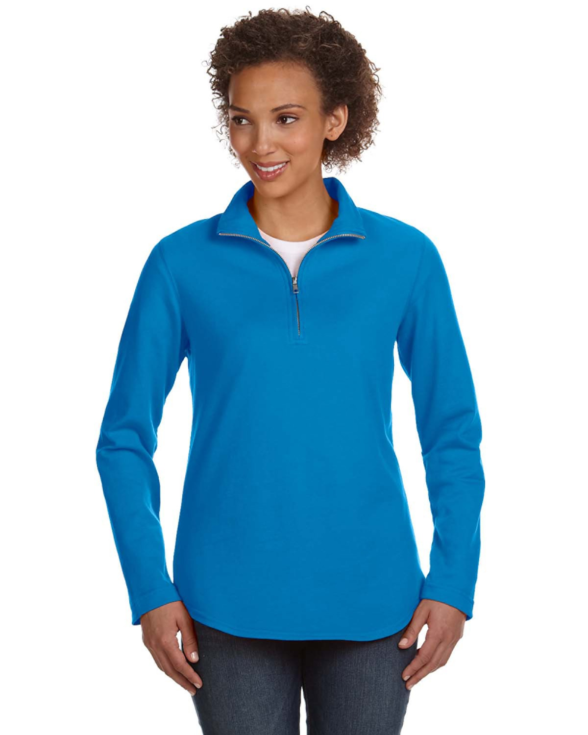 LAT Ladies' French Terry Quarter-Zip Pullover - 3764