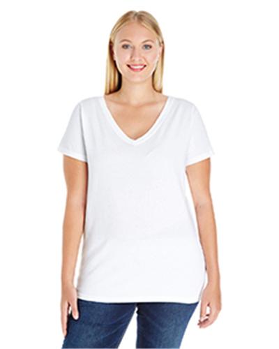 L.A.T 3807 - Ladies' Curvy V-Neck Premium Jersey T-Shirt