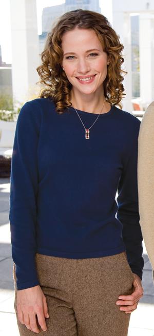 Port Authority® LSW283 Ladies Fine-Gauge Long Sleeve ...