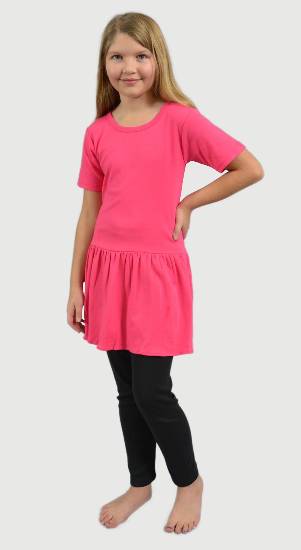 Monag 400100 - Interlock Short Sleeve Pleated Dress