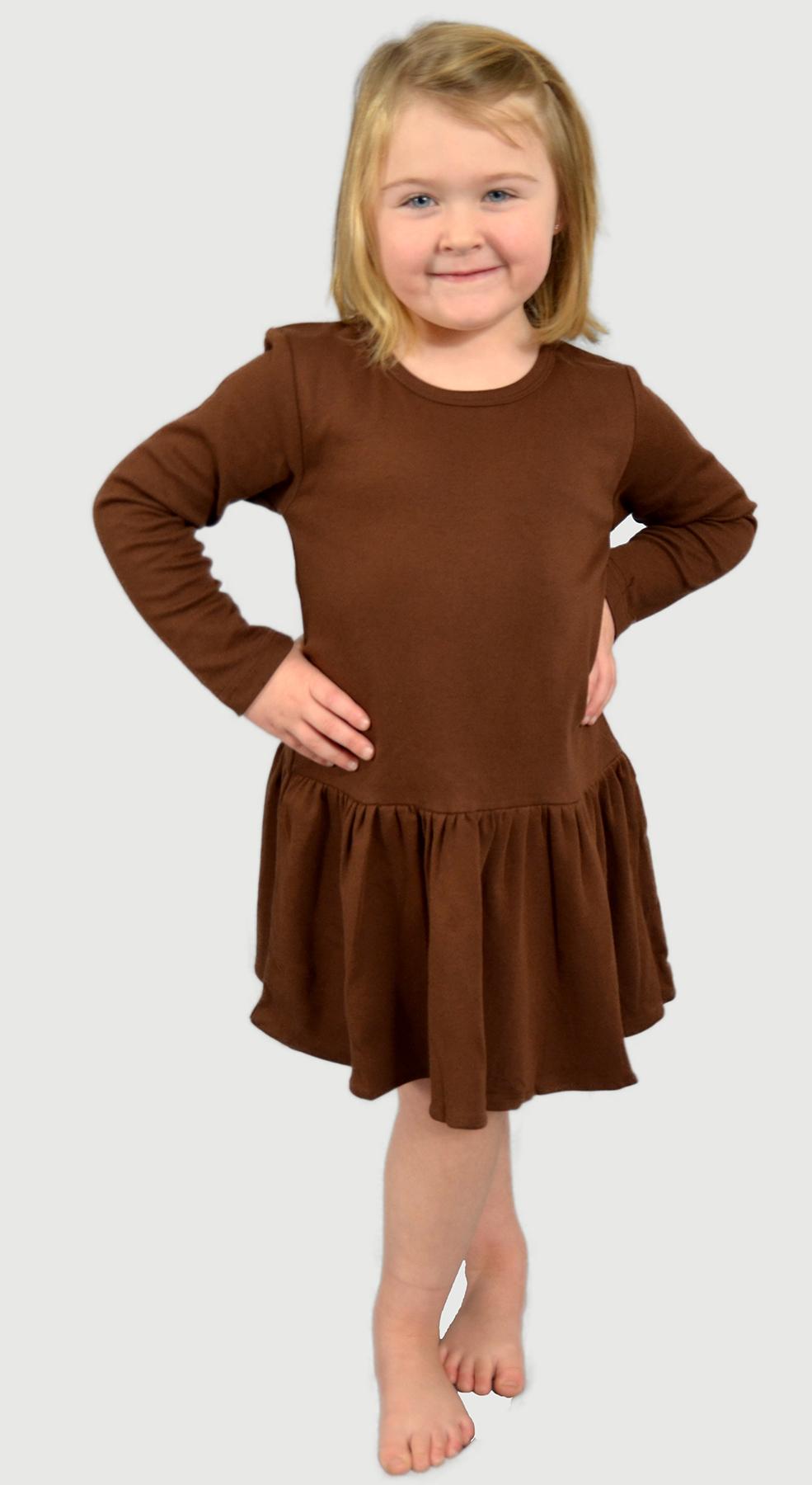 Monag 400102 - Interlock Long Sleeve Pleated Dress