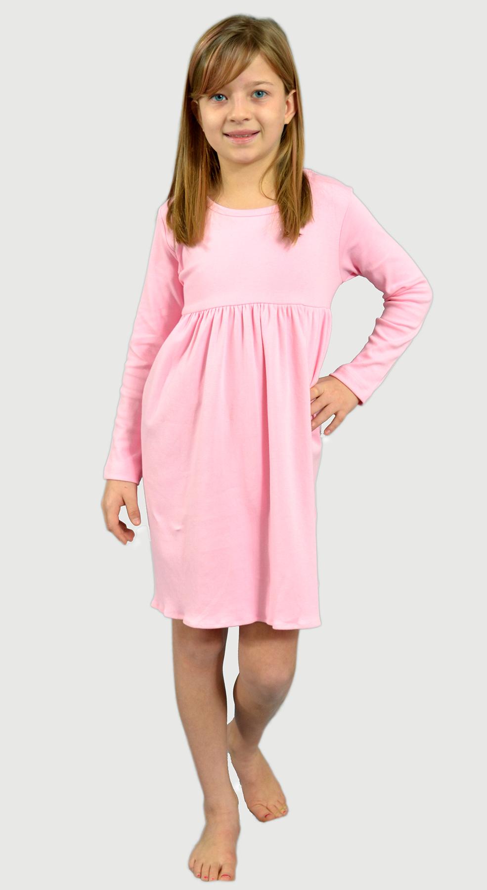 Monag 400112 - Interlock Long Sleeve Empire Dress
