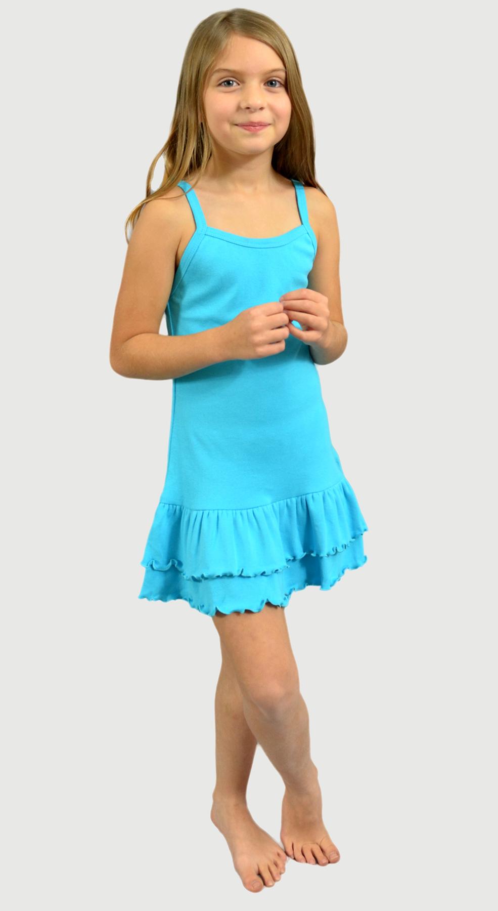 Monag 402150 - Baby Rib Spaghetti Strap Layered Dress
