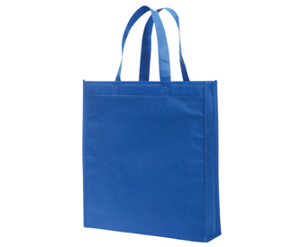 "Non-woven solid color standard tote bags, 15 1/4""H x 14""W x x3 7/8""D"