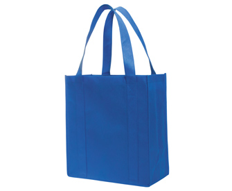 """Non-woven solid color grocery tote bags, 15 1/4""""H x 14""""H x 6 3/4""""D"""