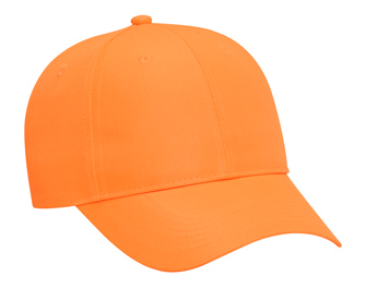 Neon deluxe polyester twill gray undervisor solid color six panel low profile pro style cap