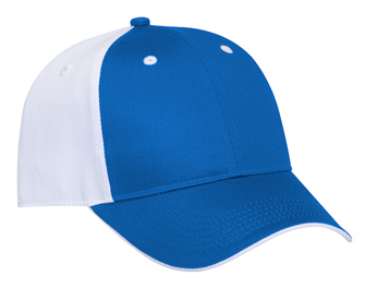 Cotton twill flipped edge visor two tone color six panel low profile pro style caps