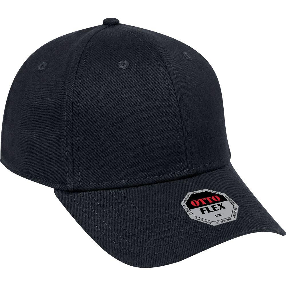 "Ottocap 11-1166 BRUSHED STRETCHABLE BULL DENIM ""OTTO FLEX"" SIX PANEL LOW PROFILE BASEBALL CAP"