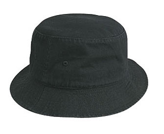 Garment washed cotton twill solid color six panel bucket hats