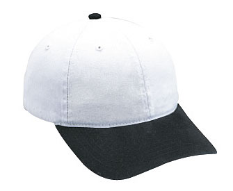 Garment washed cotton twill solid and two tone color six panel low profile pro style caps