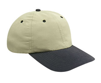 Polyester microfiber solid and two tone color six panel low profile pro style caps