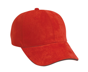 Polyester microfiber suede sandwich visor solid color six panel low profile pro style cap