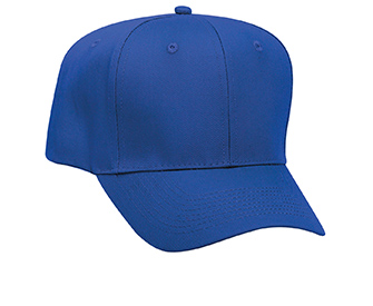 Promo cotton twill solid color six panel pro style caps