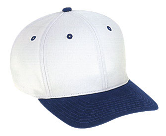 Superior brushed cotton twill solid and two tone color six panel pro style caps
