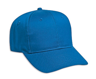 Cotton twill solid color six panel pro style caps