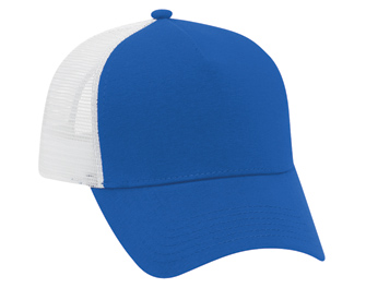 Comfy Cotton jersey knit solid and two tone color five panel pro style mesh back caps