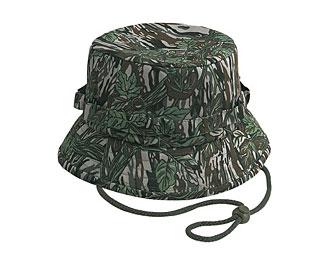 Camouflage cotton twill bucket hats