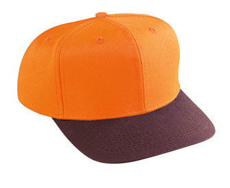 Neon cotton twill two tone color six panel pro style cap