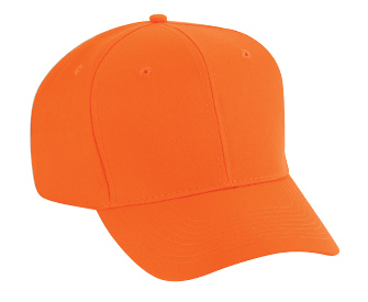 Neon polyester twill solid and two tone color six panel pro style caps