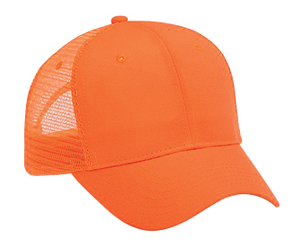 Neon superior polyester canvas gray undervisor solid color six panel pro style mesh back cap