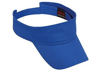 Promo cotton twill solid color six panel sun visors
