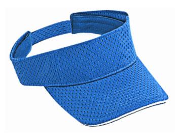 Polyester pro mesh sandwich visor solid color sun visors