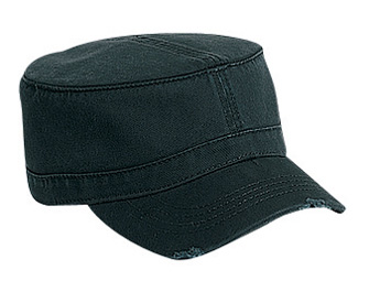 Superior garment washed cotton twill distressed visor solid color military style caps