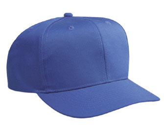Youth cotton twill solid color six panel pro style caps