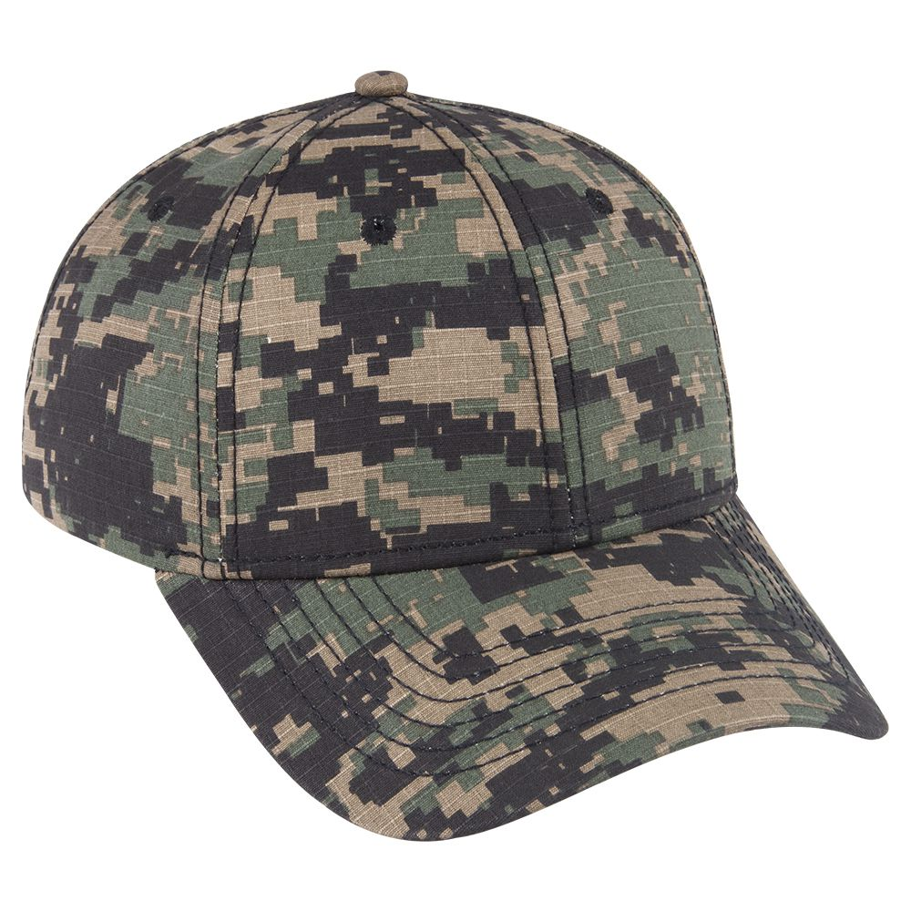 Ottocap 78-1177 DIGITAL CAMOUFLAGE COTTON RIPSTOP SIX PANEL LOW PROFILE BASEBALL CAP