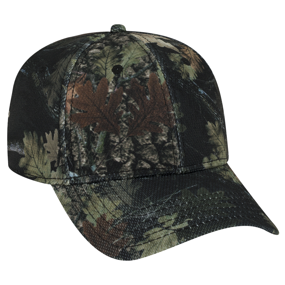 OTTOCAP 78-1226 - CAMOUFLAGE POLYESTER PIQUE MESH LOW PROFILE STYLE CAPS