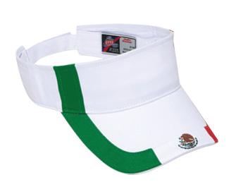 Mexico flag design cotton twill two tone color sun visor