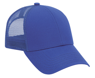 Superior cotton twill solid color six panel low profile pro style mesh back caps