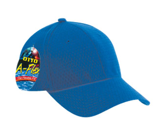 OTTO A-Flex stretchable polyester pro mesh solid color six panel low profile pro style caps